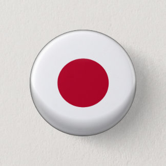 Japan Flag 3 Cm Round Badge