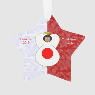 Japan Flag Angel Red White