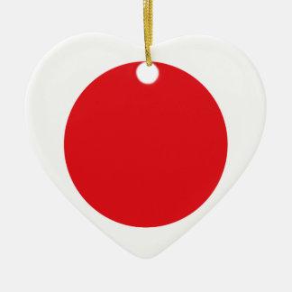 Japan flag ceramic heart decoration