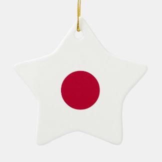 Japan Flag Ceramic Star Decoration