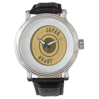 Japan Flag Gold Coin Wristwatch