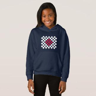Japan Flag minimalist dots kid's hoodie