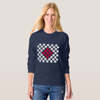 Japan Flag minimalist dots Women's Sweatshirt