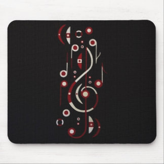 Japan Flag Music Notes Mouse Pad