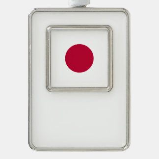 Japan Flag Silver Plated Framed Ornament