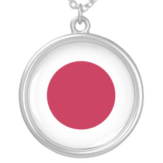 Japan Flag Silver Plated Necklace