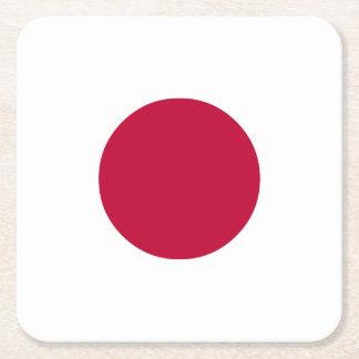 Japan Flag Square Paper Coaster