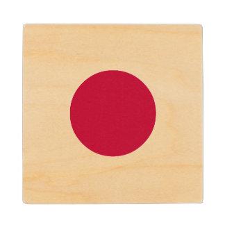 Japan Flag Wood Coaster