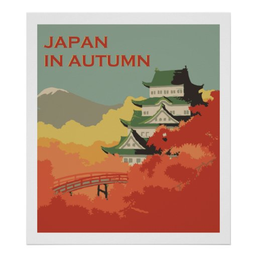 Japan in Autumn (Vintage ads) Poster