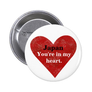 Japan Is In My Heart Desgin Earthquake Relief Btn 6 Cm Round Badge