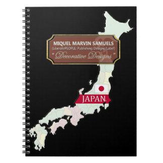 Japan Island outline Flag Colors Modern Notebook