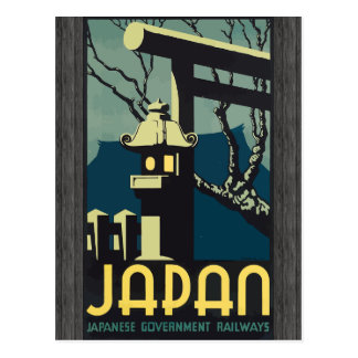 Japan Japanese Government Railways, Vintage Post Card