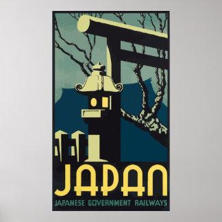 Japan Japanese Government Railways, Vintage Poster