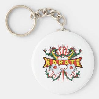 Japan Karate Dragons Basic Round Button Key Ring