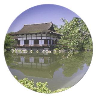 Japan, Kyoto, Japanese Garden of Heian Shrine Party Plates