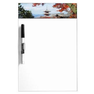 Japan, Kyoto. Kiyomizu temple in Autumn color Dry Erase Whiteboards