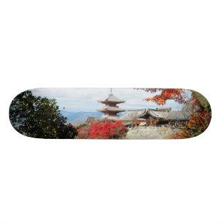 Japan, Kyoto. Kiyomizu temple in Autumn color Skate Boards