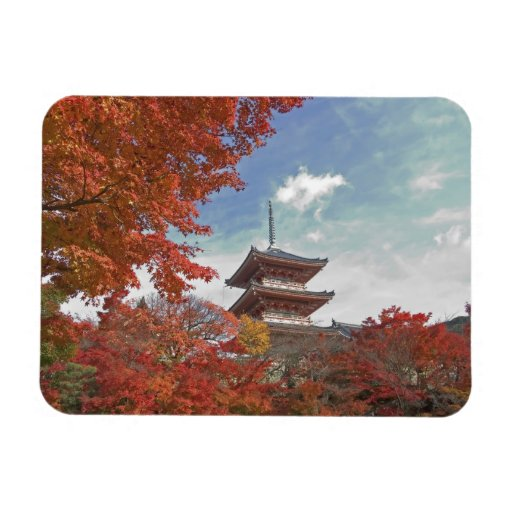 Japan, Kyoto, Pagoda in Autumn colour Vinyl Magnet