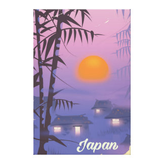 Japan landscape setting sun canvas print