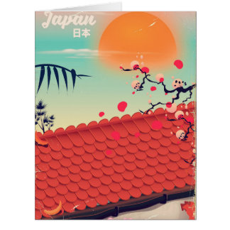 Japan Landscape travel poster Card