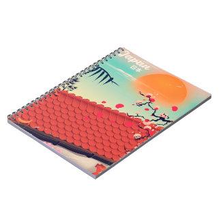 Japan Landscape travel poster Notebooks