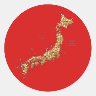 Japan Map Sticker