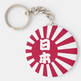 Japan naval flag v2 basic round button key ring