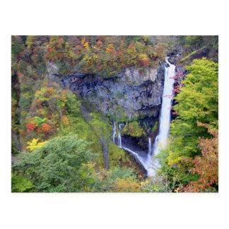 Japan, Nikko. Kegon waterfall of Nikko, a UNESCO Postcard