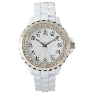 Japan old kanji style [white face] watch