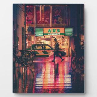 Japan Osaka Night Asia Landmark Travel Japanese Plaque