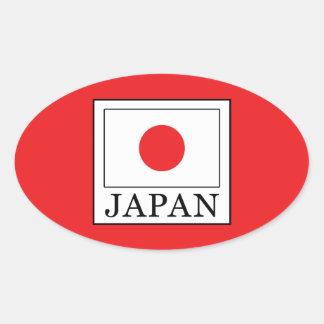 Japan Oval Sticker