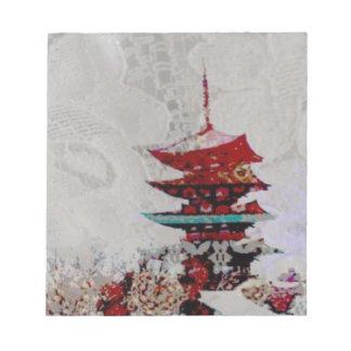 Japan Pagoda Lace Series Notepad