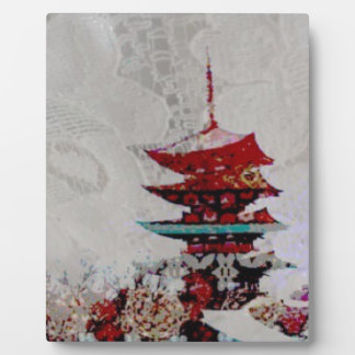Japan Pagoda Lace Series Plaque