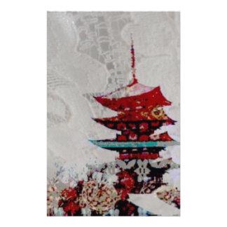 Japan Pagoda Lace Series Stationery