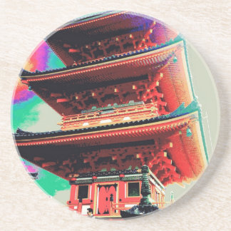 Japan Pagoda Psychedelic  Series Coaster
