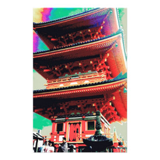 Japan Pagoda Psychedelic  Series Stationery