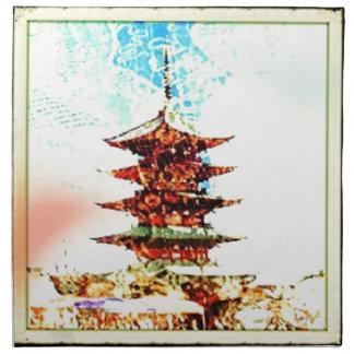 Japan Pagoda Temple Series Napkin