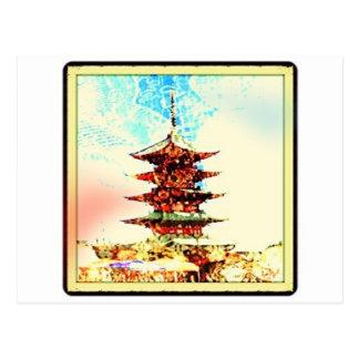 Japan Pagoda Temple Series Postcard