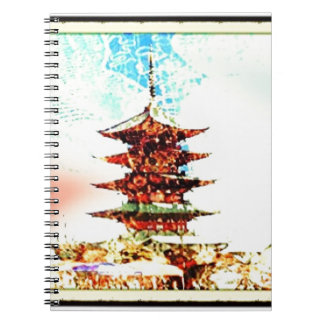 Japan Pagoda Temple Series Spiral Notebook