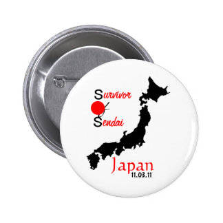 Japan relief tsunami earthquake Sendai 6 Cm Round Badge