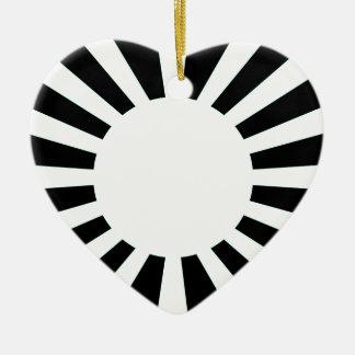 Japan Rising Sun Flag Ceramic Heart Decoration