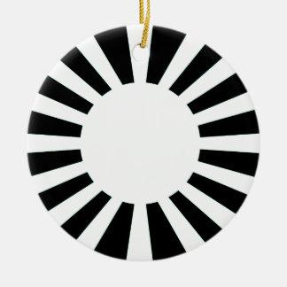 Japan Rising Sun Flag Round Ceramic Decoration