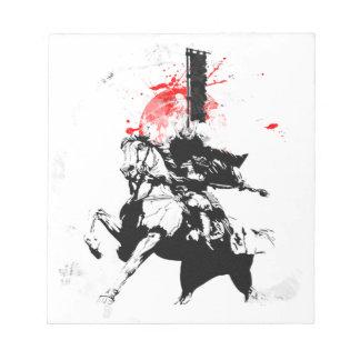 Japan Samurai Notepad