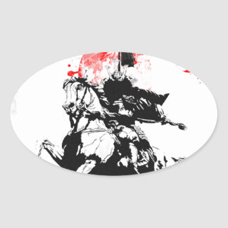 Japan Samurai Oval Sticker