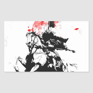 Japan Samurai Rectangular Sticker