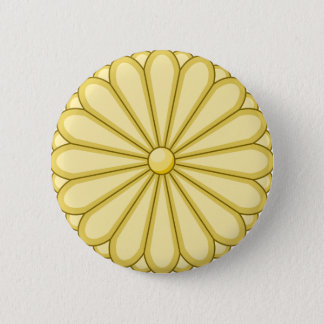 japan seal 6 cm round badge