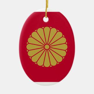 Japan Sessyo Flag Ceramic Oval Decoration