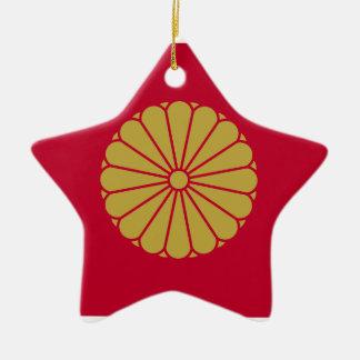 Japan Sessyo Flag Ceramic Star Decoration