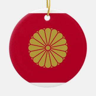 Japan Sessyo Flag Round Ceramic Decoration