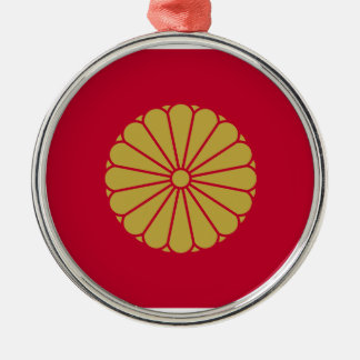 Japan Sessyo Flag Silver-Colored Round Decoration